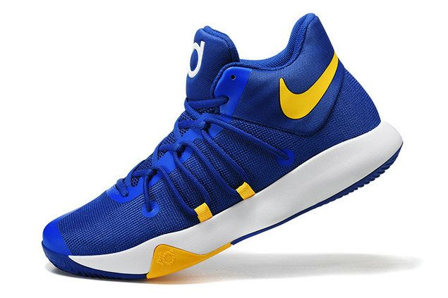 Free Shipping Only 69$ KD Trey 6 EP 2017 Golden State Warriors Game Royal Tour Yellow