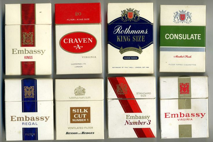 The Virtual Tobacconist - Lost UK Cigarette Brands c 1970