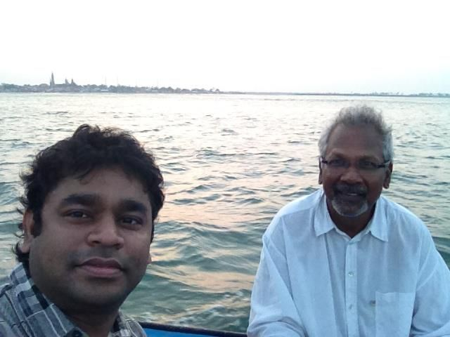 Rahman with Mani Ratnam in a rare candid moment