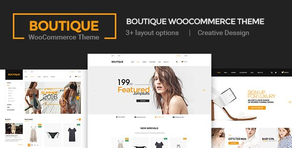 Boutique - Creative Multi-Purpose WooCommerce Theme This elegant and intuitive theme is carefully developed and includes that set of pages, tools and settings that will help you create a professional looking and trustworthy online shop.