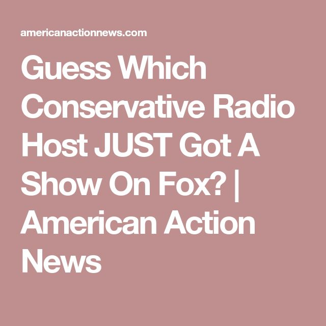 Guess Which Conservative Radio Host JUST Got A Show On Fox? | American Action News