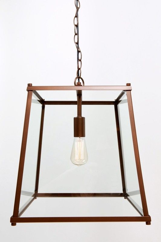 Available in a Dark Bronze or Satin Nickel finish and two different sizes, the Tapered Box Pendant mixes traditional and contemporary into one to create a fitting that looks great over a dining room table, kitchen island or in bars and restaurants.  Small Size:  Base Width 275mm  Height 280mm  Large Size:  Base Width 400mm  Height 400mm  Suspension:  1m