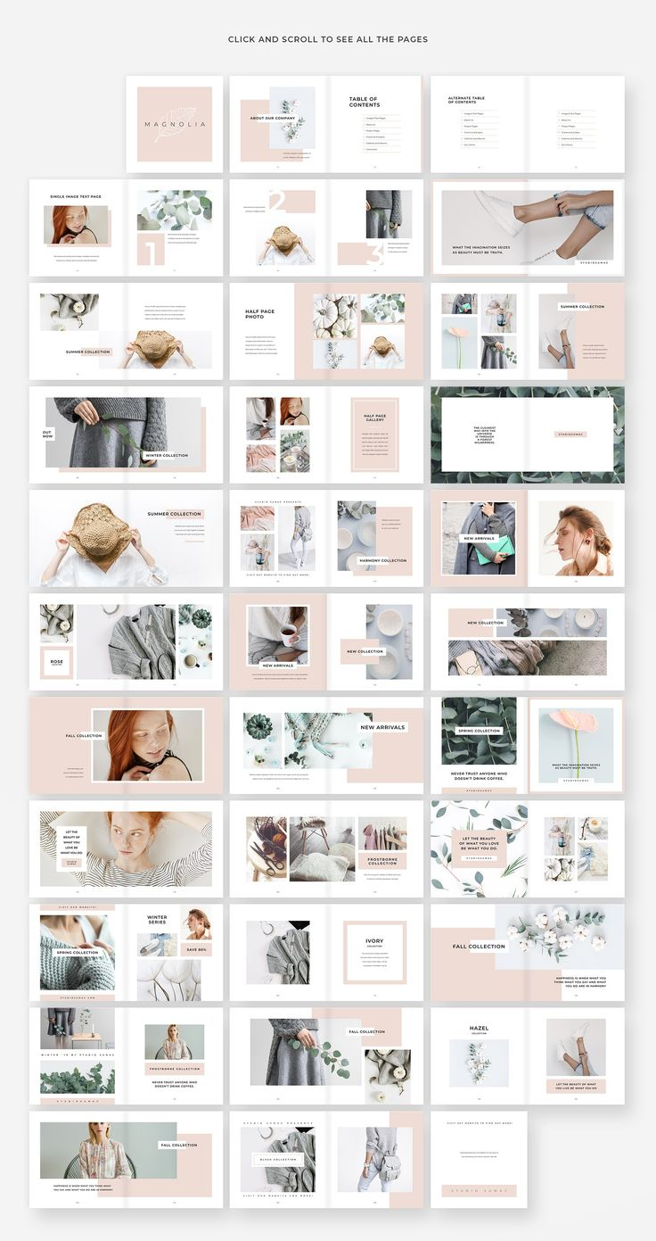 Magnolia Lookbook Template by Studio Sumac on Crea…