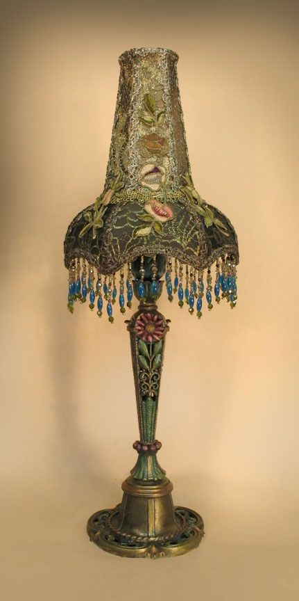 1000 images about victorian lamps lampshades on - Flower shaped lamp shades ...
