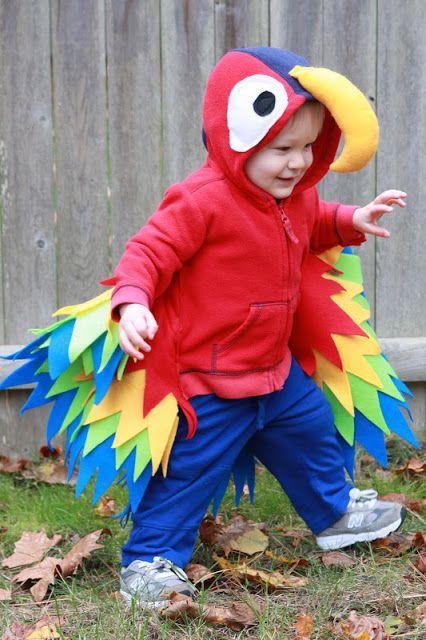 Papagei Kostüm selber machen | Kostüm Idee zu Karneval, Halloween & Fasching