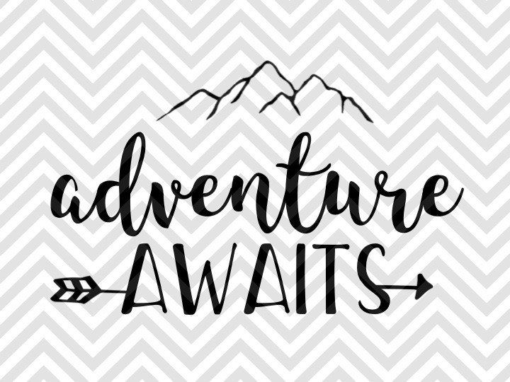 Adventure Awaits Arrow mountains i love you to the mountains and back SVG and DXF EPS Cut File • Cricut • Silhouette Png • Download File • Printable Cricut Projects• Silhouette Project Ideas By Kristin Amanda Designs