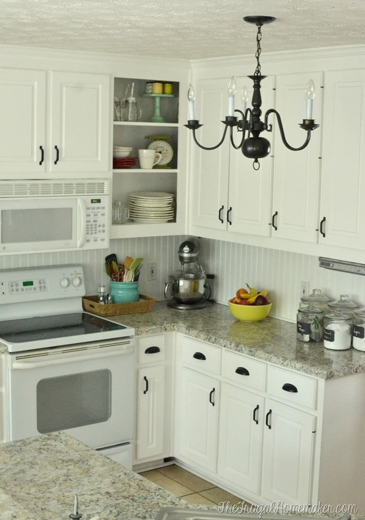 How to re paint your yucky white cabinets kitchens for 7 x 9 kitchen cabinets