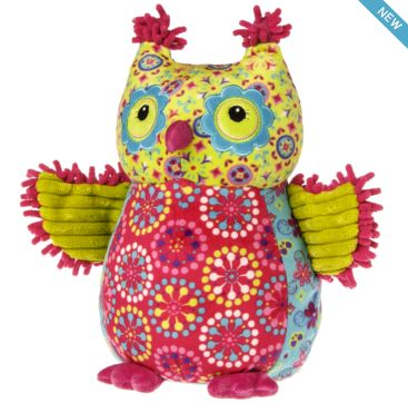 Pizzazz Kiwi Owl from Mary Meyer  Available now at Bobangles.  #MaryMeyer #plush #toy #kids #cute #Australia #owl