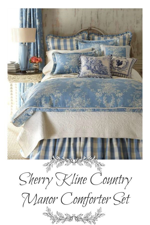 French Country Decorating Bedroom, Sherry Kline Home Collection Country Manor Bedding
