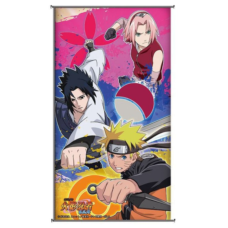 Wall Scroll(small)-Naruto Sasuke Sakura | Anicore Products Ltd.