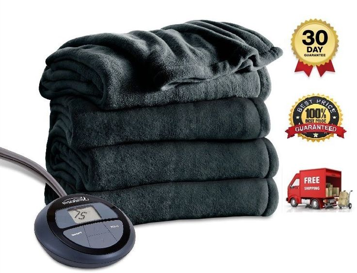 Electric Blanket Heated Microplush Personalized Heat Settings Auto ShutOff Warm  #Blanket #Country