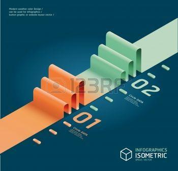 Infographic izometrik grafik photo