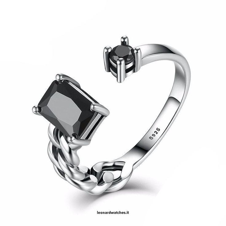 Aquare and Round Black Braided Rings  Vendor:  Leonardwatches          Type:            Price:              24.66                           Metals Type:  Silver    Shape\pattern:  Plant    Style:  Classic    Metal Stamp:  925,Sterling    Main Stone:  Zircon    Rings Type:  Wedding Bands    CertificateType:  GDTC    Color:  Silver & Black  https://www.leonardwatches.it/products/aquare-and-round-black-braided-rings