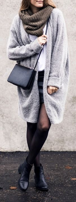 #winter #fashion / oversized knit coat