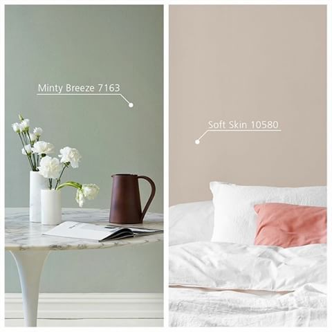 Subdued and discreet or fresh and rejuvenating – which colour would you choose for your home? الهدوء والسكينة والغموض الساحر أم التجديد والانتعاش والإشراقة الفاتنة – أي إطلالة لونية ستختار لمنزلك؟ #SS2015 #SpringSummer #Jotun #JotunMyHome #Paints #Colours #Inspiration #InteriorDesign #Fenomastic #Minty_Breeze #Soft_Skin #ربيع_وصيف #جوتن #بيتي_من_جوتن #دهانات #الوان #الهام #تصميم_داخلي #فينوماستيك #مينتي_بريز #سوفت_سكن