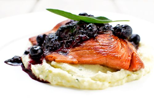 Wild Salmon With a Berry Noir Sauce and Parsnip Puree | Fork Knife Swoon