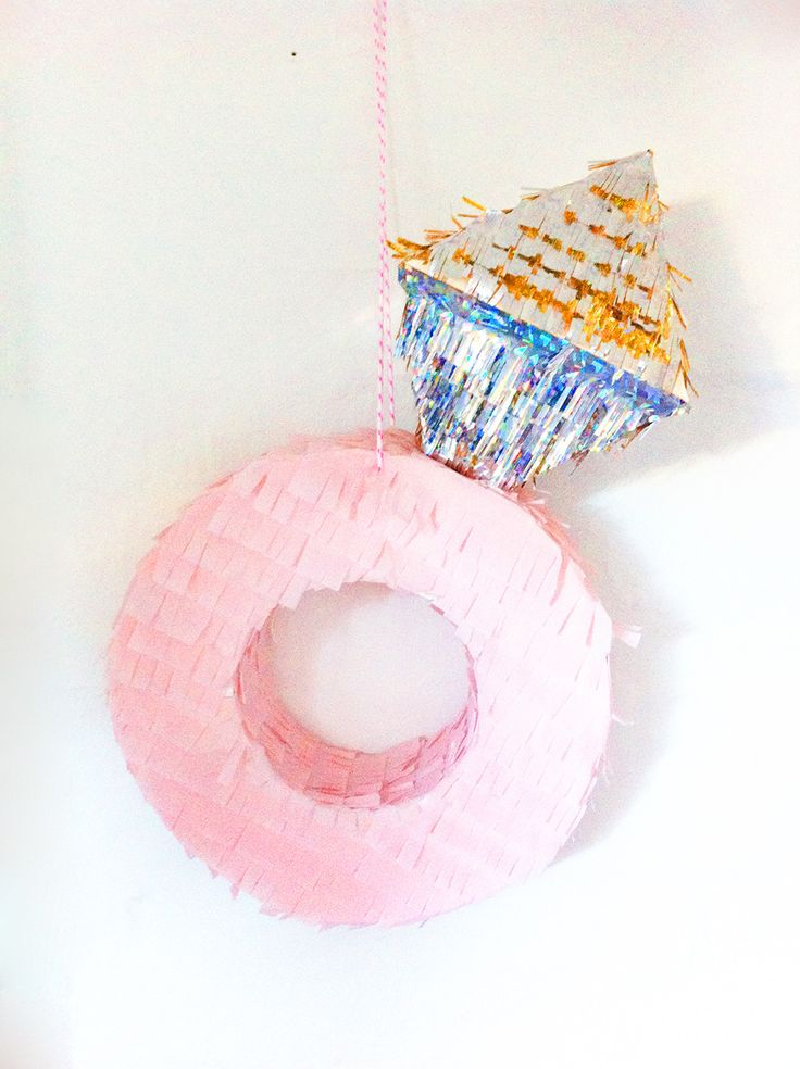 Engagement Ring Piñata! @awheatthin please envision this. e-photos with huge glitter inside. Adam with a stick