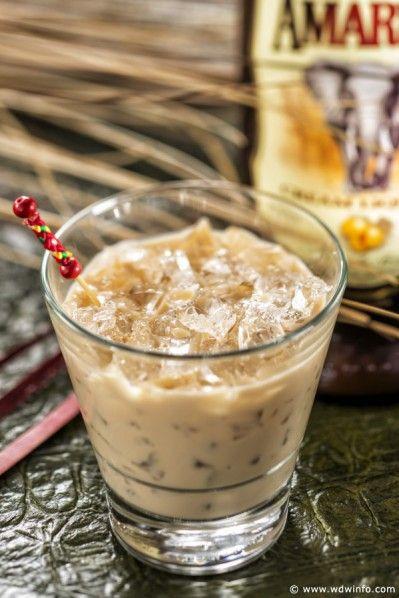 A creamy Brown Elephant cocktail concocted of Amarula cream liqueur, milk and Coca Cola