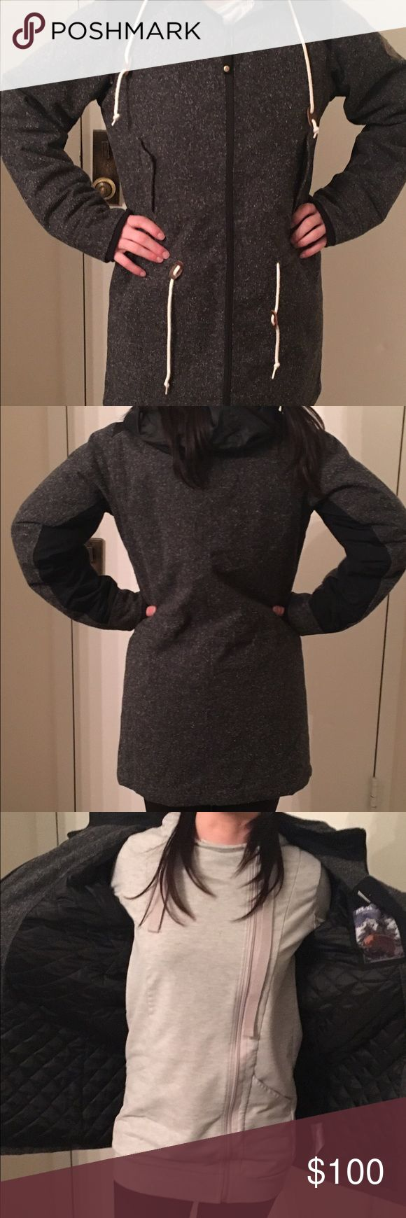 Burton ski jacket This Burton ski jacket is perfect for any snow bunny. It's heather grey fabric is a great color for winter. It is lightly worn. If you have any questions please let me know. Reasonable offers will be considered. Burton Jackets & Coats Utility Jackets