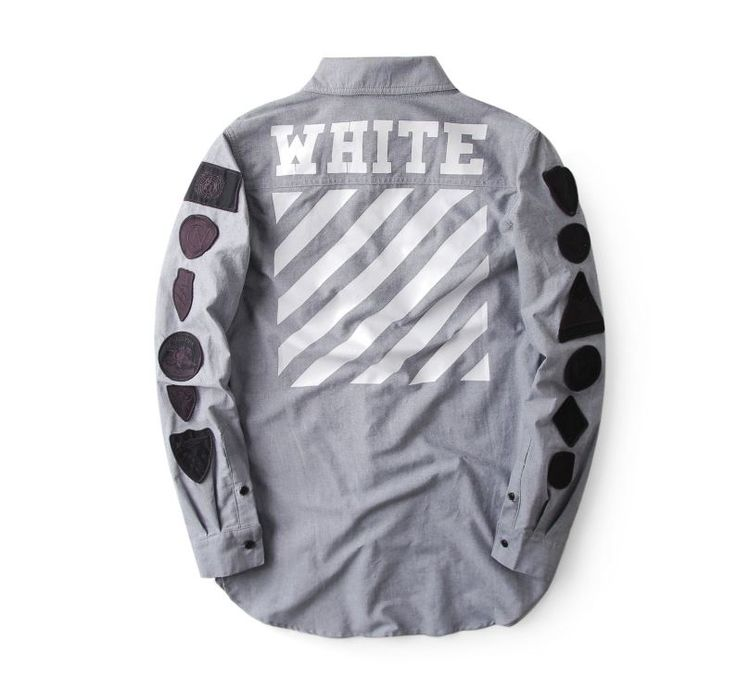 The Off-White Badges Button Up Shirt is the hottest item of streetwear clothing today. It comes in different colors such as gray, white, camouflage, and more. Check out more from OFF-White at http://fusionswag.com/t-shirts  #OFFWhite #OFFWhiteClothing