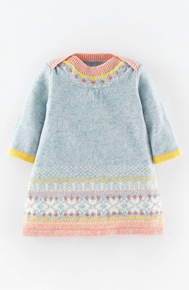 Mini Boden 'Fair Isle' Knit Dress (Baby Girls) available at #Nordstrom …