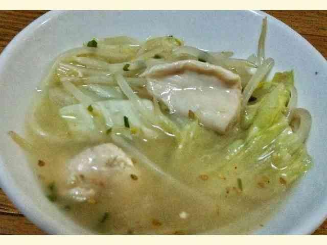 ツルプリ鶏むね肉ととろ~り鶏ガラスープ鍋の画像