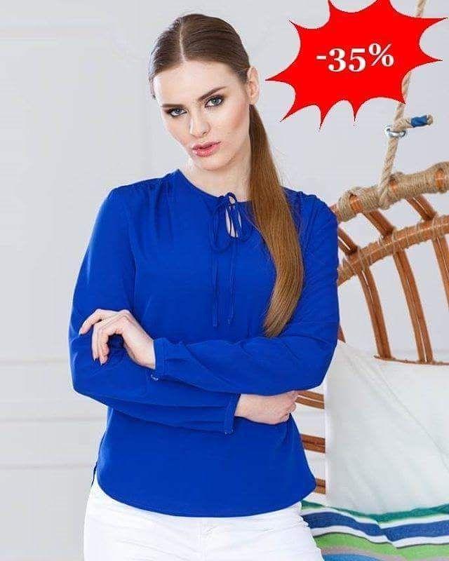 Bluzka damska zawiązywana przy szyi  Prezentuje się niezwykle elegancko i kobieco!   -35%  http://ift.tt/2gvATkI