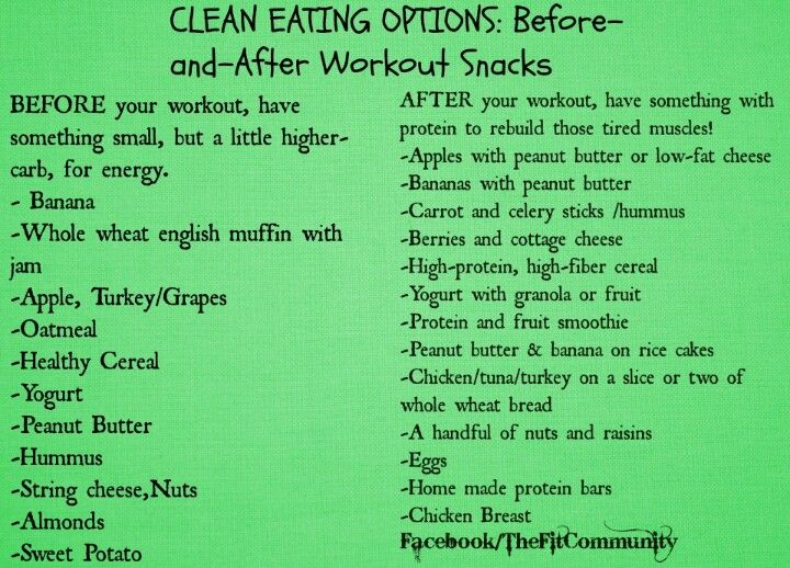 Clean eating workout snacks