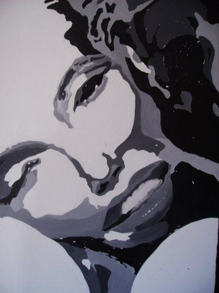 { Acrylic Painting } by Sinead Queiroz, via Behance