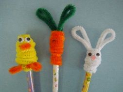 Easter pencils toppers