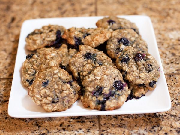 I made these Blueberry Oatmeal Cookies over the weekend and have probably already eaten half the batch, which I felt guilty about until a sweet Twitter fol