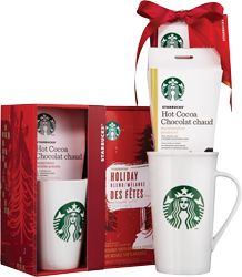Holiday Blend Coffee & Peppermint Hot Cocoa. Hot Cocoa mug gift sets (70g).
