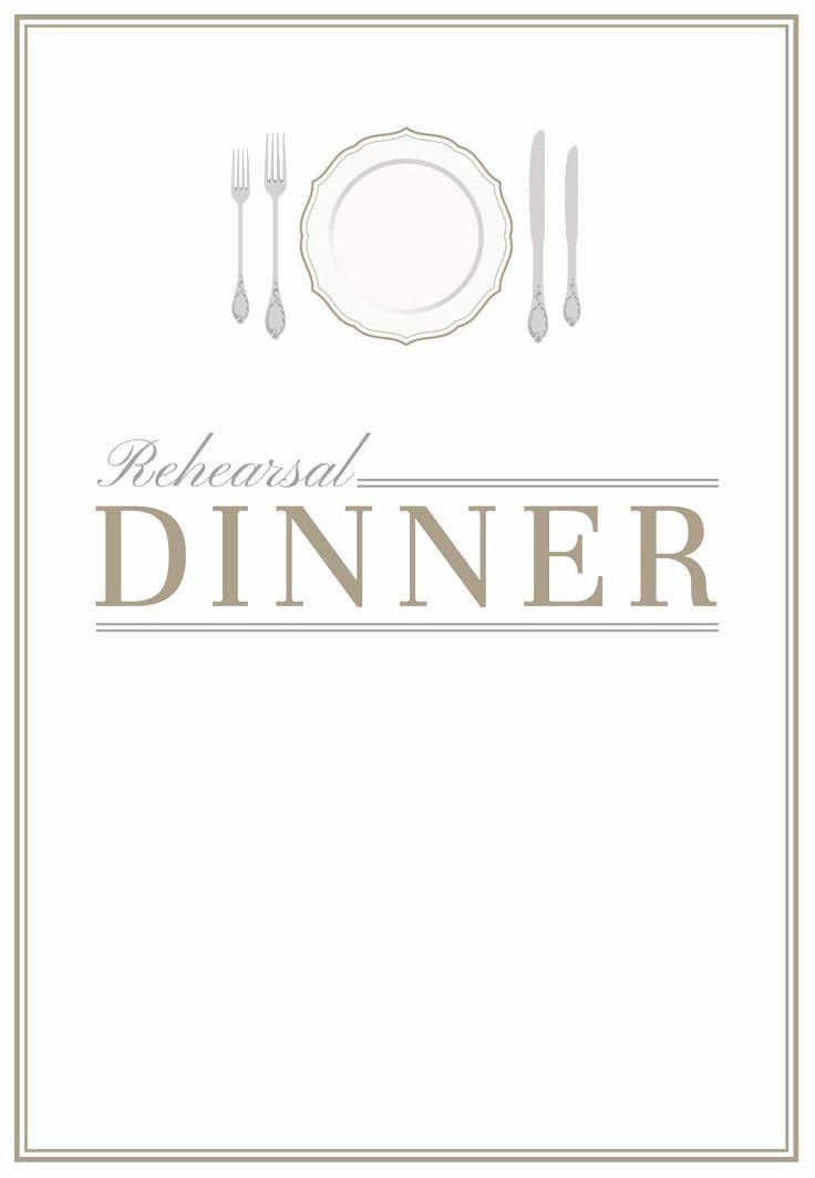 Beautiful Dinner Invitation Template Word In 2020 Rehearsal