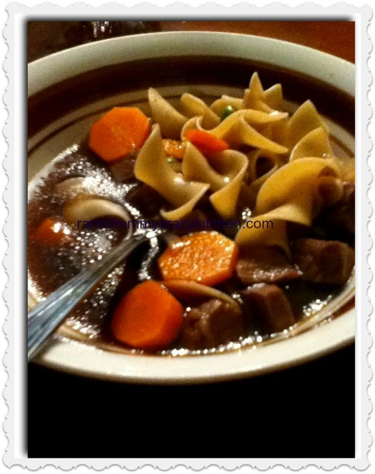 Beef Noodle Soup | Yummy in my tummy | Pinterest