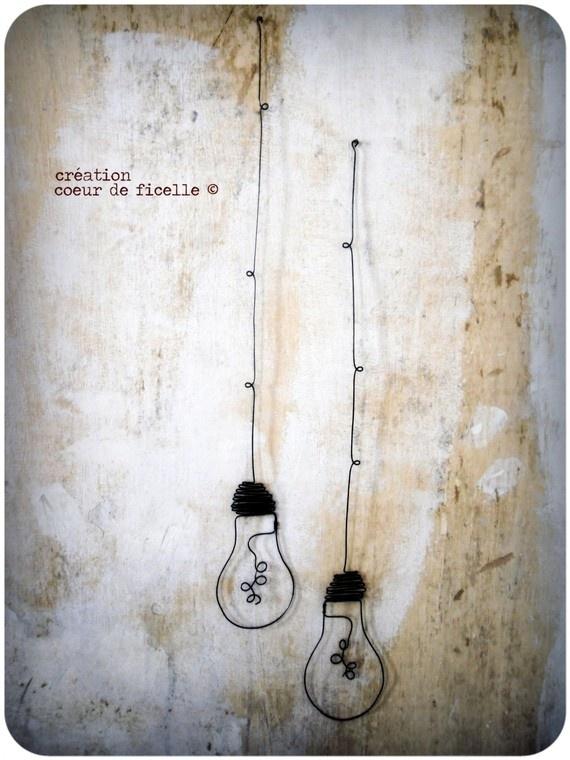 ampoules déco à suspendre en fil de fer