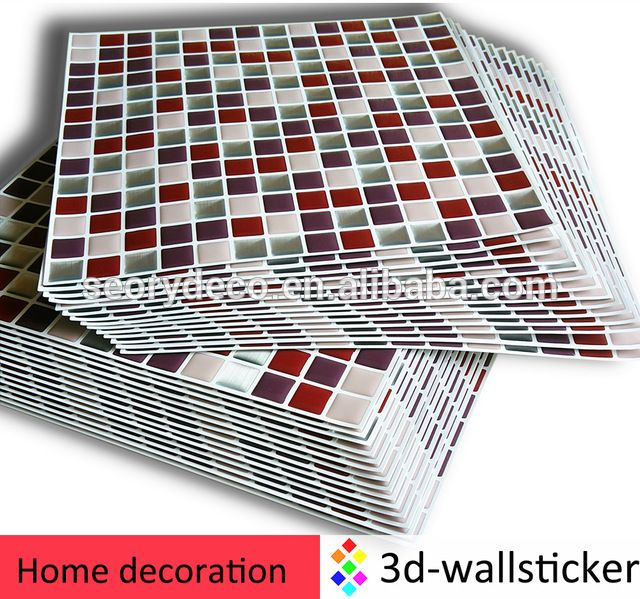 Dongguan Factory Outlets The Decorative Vinyl Wall Tile Epoxy Resin Mosaic For Home Indoor Decor Decoration Supplier