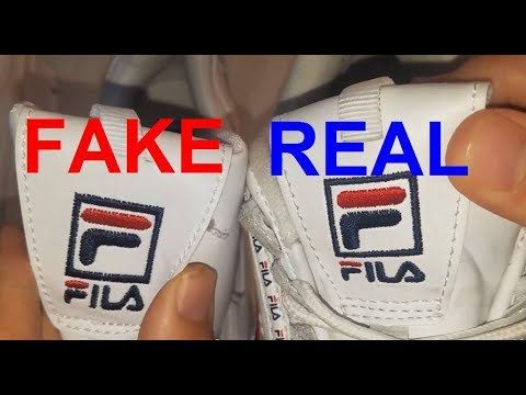 Real vs. Fake Fila Disruptor 2. How to spot fake Fila ...