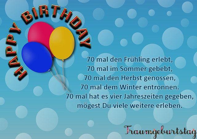 Geburtstagsgluckwunsche Zum 70 Geburtstagswunsche Zum 70 Die