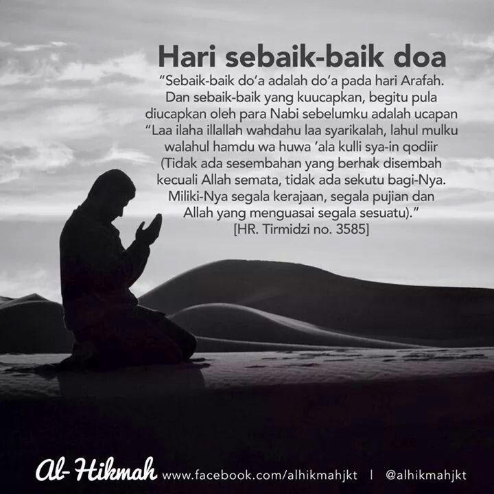 Hari Arafah .. hari sebaik-baik doa.