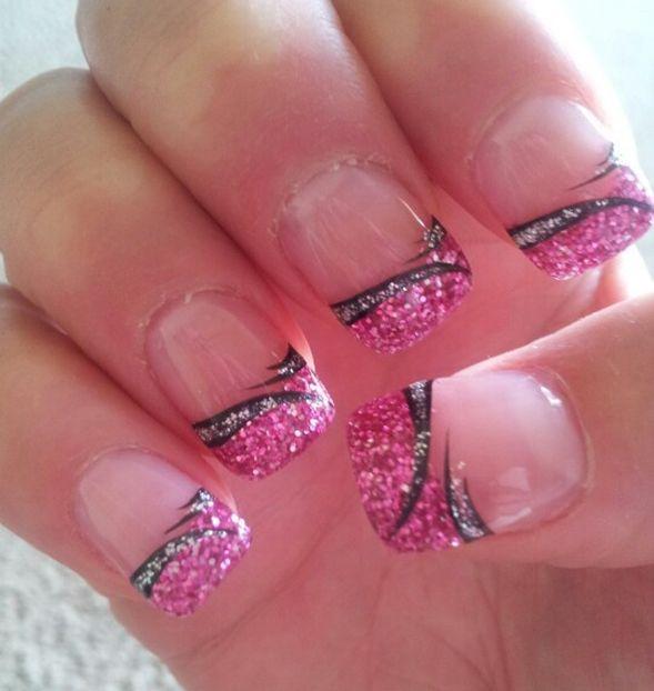 57 Most Beautiful Glitter Nail Art Design Ideas: 17 Best Ideas About Pink Nail Designs On Pinterest