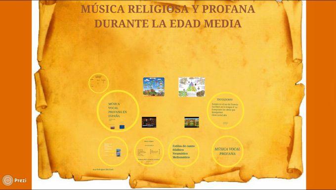 Música religiosa de la Edad Media, presentación Prezi | Recursos Musicales