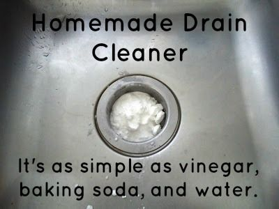 To avoid clogging and bad odors, sink and tub drains should be periodically cleaned / http://myjournalkohn.blogspot.com/2011/05/homemade-drain-cleaner.html