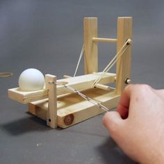 catapult instructions - ping pong ball really flies!