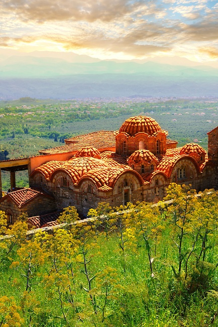 The Byzantine Metropolis Church at Mystras ,Sparta (Peloponnese)