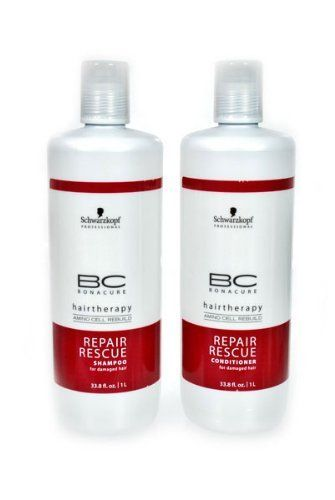 Schwarzkopf Bonacure Hairtherapy Amino Cell Rebuild Repair Rescue Shampoo and Conditioner Duo Set, 67.6 Fluid Ounce by Schwarzkopf. Save 9 Off!. $34.64. New repair rescue revolutionizes hair care with the first biomimetic hair repair technology. Bonacure repair rescue not only repairs the cells within the hair but also recreates the hair surface bio mimetically, for hair returned to its optimal level of health. Bonacure repair rescue, for a 100% healthy hair surface, down to ...