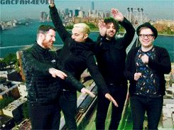 Patrick is just dancing and waving. That is true adorableness. He wants to fit with them and fails again xD