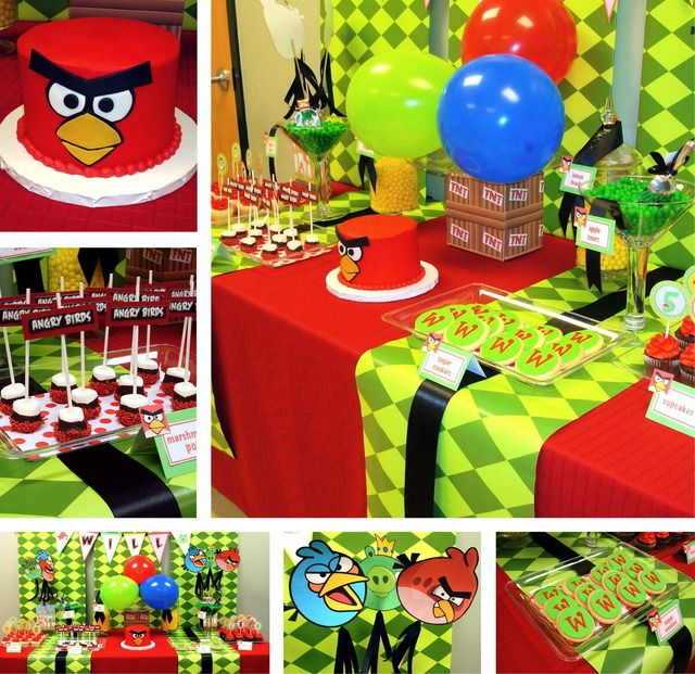 294 best glow in the dark neon birthday ideas images on for Angry bird decoration ideas
