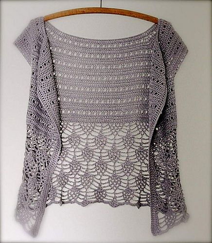 An elegant, tweedy cardigan is a must have timeless piece for ladies that become wardrobe staples. It is the time of year for warm crochet wear, and what b