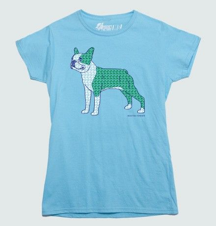 Boston Terrier Pattern T-shirt