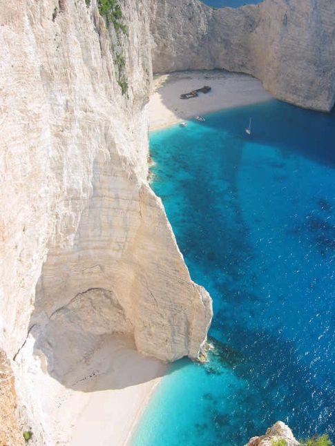 Beach in Zakynthos, Greece. For the best hotels in Greece visit http://www.mediteranique.com/hotels-greece/
